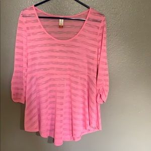 Júniors 3/4 ruched sleeve top/juniors Large(11-13)